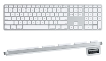 Slim Apple Aluminum Keyboard